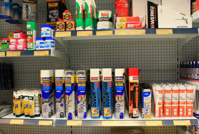 Silicone, Colas, Argamassas,  Spray Lubrificante
